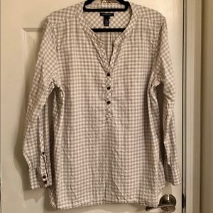 Gray and White Flannel Tunic